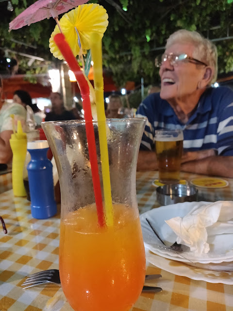 madmumof7 in Cyprus Taverna with her dad