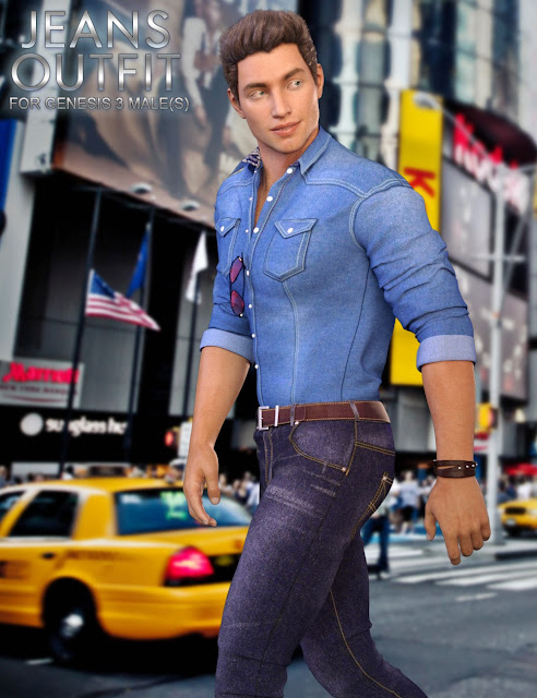 Jeans Outfit for Genesis 3 Male