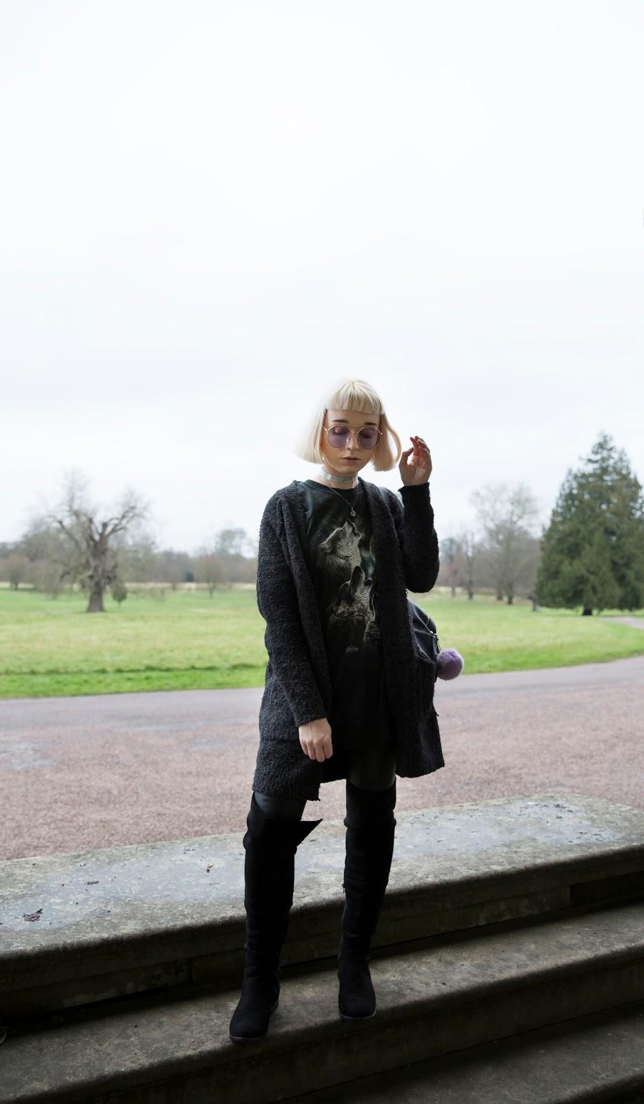 how-to-wear-grunge-cardigan
