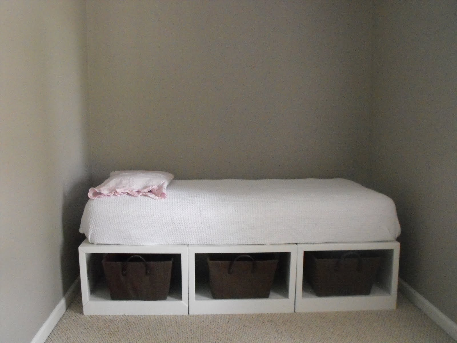 Details About White 3 Piece Storage Drawers Twin Bed Box: Susie Harris: DIY Storage Daybed