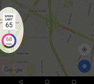 limiti velocità google maps