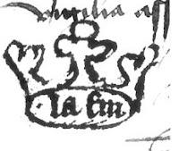Cartela figurada imitando una corona