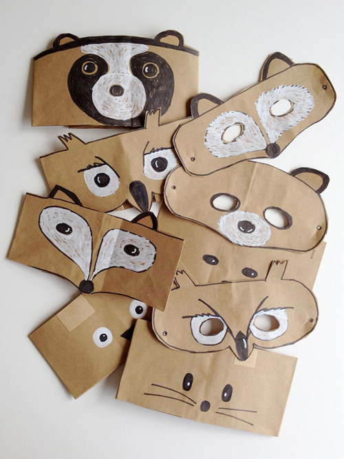 My Owl Barn Brown Paper Bag Animal Headbands And Masks