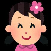 女の子の顔アイコン 1
