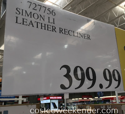 Costco 727756 - Deal for the Simon Li Furniture Leather Glider Recliner Chair at Costco
