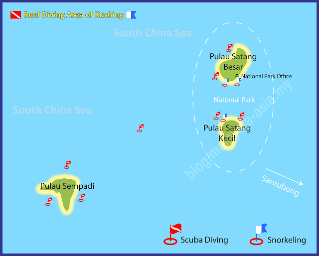 Pulau Satang and Sempadi Island Dive Sites