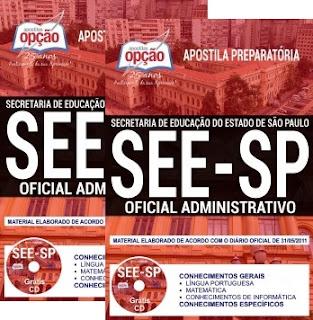 Apostila Oficial Administrativo concurso SEE-SP 2018
