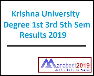 Krishna University Degree 1st 3rd 5th Sem Results 2019 Manabadi