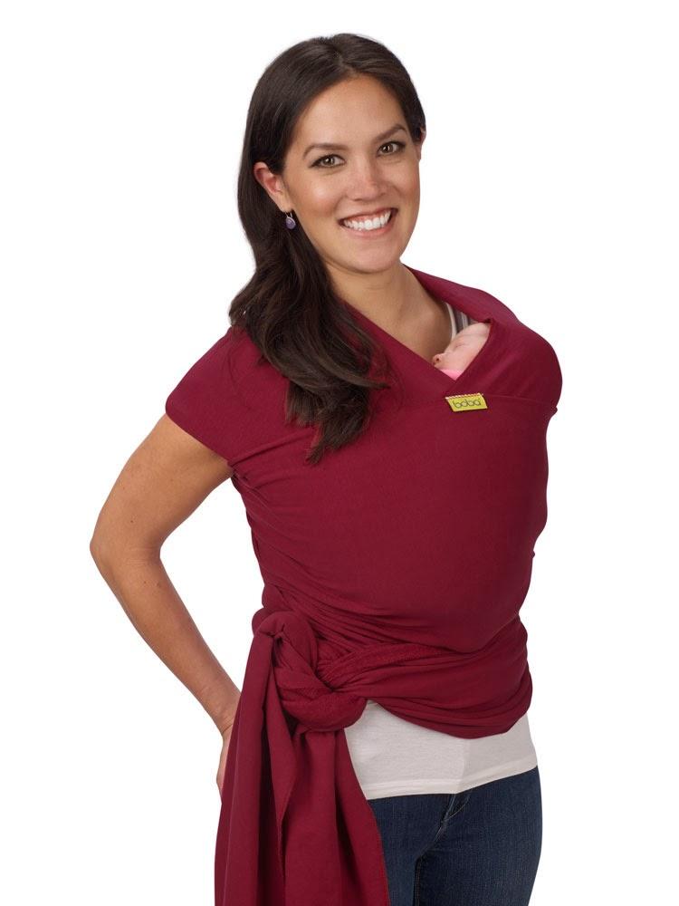 Boba Stretchy Wrap Sangria for pre-term and newborn baby.