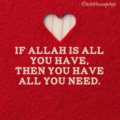 Allah Quotes: If Allah all you have