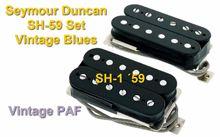 Set de Pastillas Humbucker PAF Seymour Duncan SH-59 Set Vintage Blues