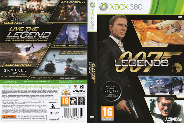 Capa xBox360 007 Legends