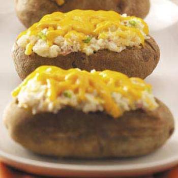 recette Pommes de terre farcies au fromage