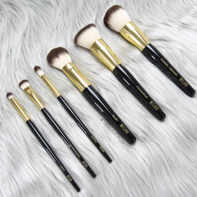 milani makeup brushes - the beauty puff
