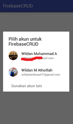 Screenshot_FirebaseCRUD Autenikasi dengan Akun Google