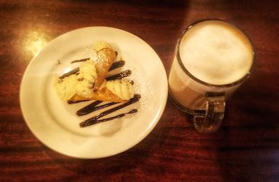 Hazelnut Latte & Cannoli