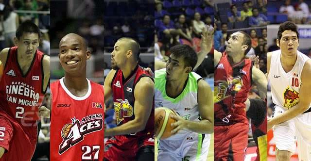 From left, Billy Mamaril, Gabby Espinas, Doug Kramer, Yancy de Ocampo, Rico Maierhofer, Dave Marcelo