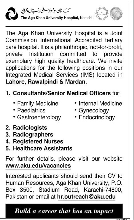 MMBS Doctors Jobs in Agha Khan University Hospital