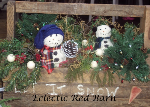 Snowman Decor in Toolbox
