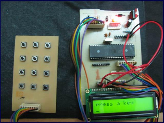 Electronics Based Projects 4 U: How to interface keypad with