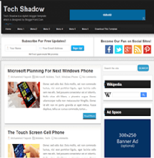 Technical school Shadow Blogger Template/Theme