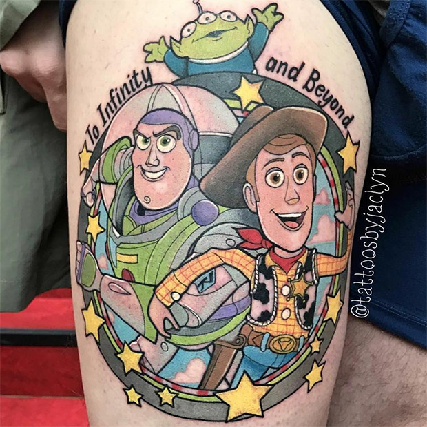 Tatuagens do Toy Story