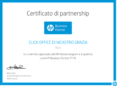 Business partner HP 2018