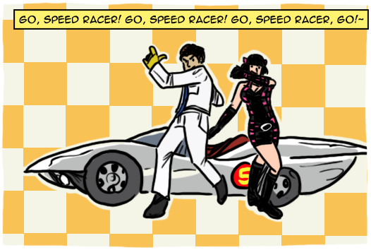 go speedracer go essay Lab:go speed racer go purpose : to construct a graph for the motion of an object and interpret the results question.