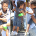 Kelly Rowland gives her son a new hairstyle..he's so cute! (photos)