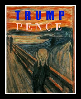 Munch Scream Trump Pence Poster