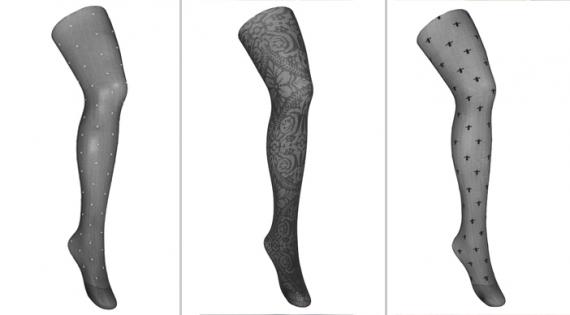b8e5df54f São chamadas de meias com texturas. Elas devem ser usadas de preferência  com roupas lisas