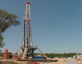 drilling rig on land
