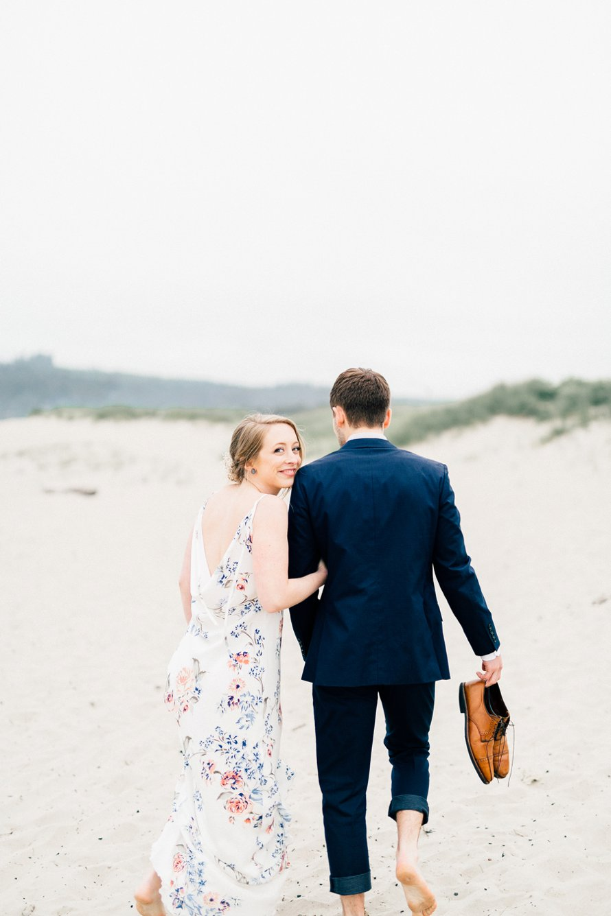 Romantic Cannon Beach Elopement by Wedding Photographer Something Minted