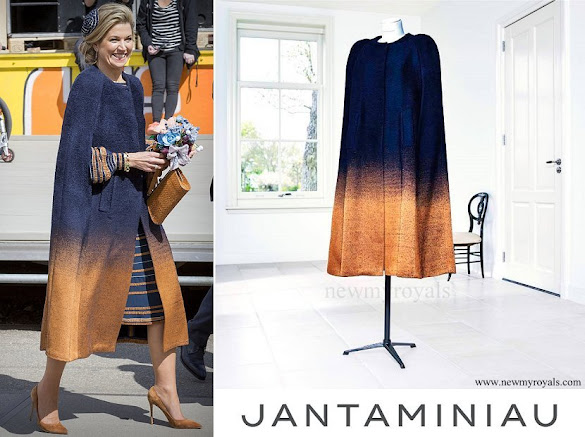 Queen Maxima wore JanTaminiau Cape-Coat