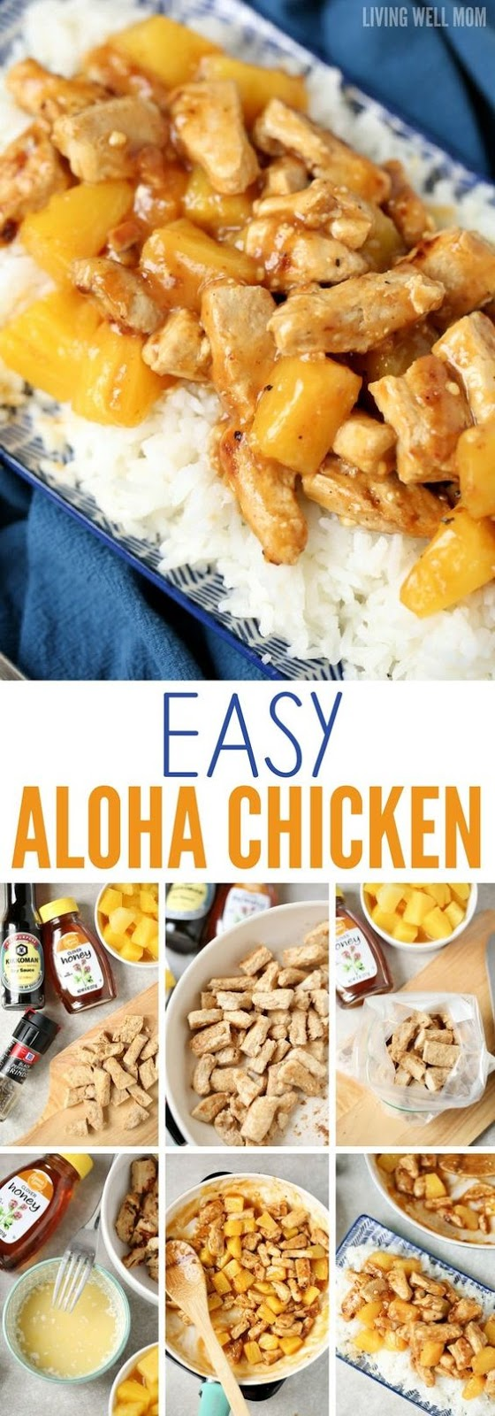 Easy aloha Chicken Dinner #aloha #chicken #chickenrecipes #chickendinner #quickdinnerrecipes #dinnerrecipes