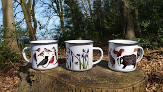 Enamel Mugs by Alice Draws The Line
