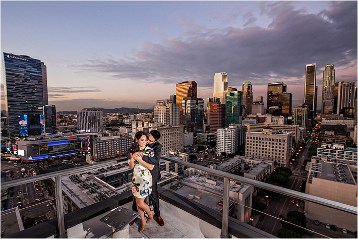 Downtown Los Angeles & Skyline Engagement Session
