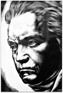 Ludwig van Beethoven - Caricaturas Românticas de Sotero Cosme