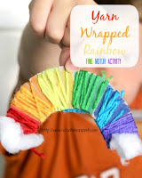 yarn wrapped rainbow