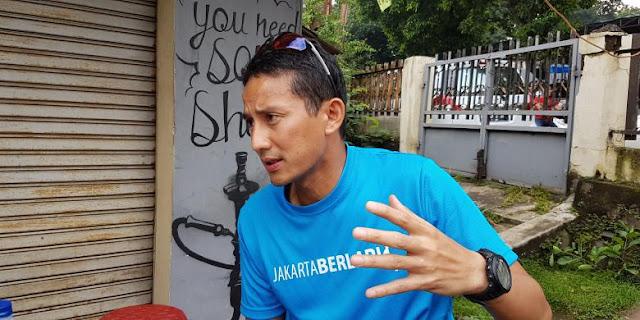 """Serang Ahok, Sandiaga Uno: Kan """"Malu-maluin"""", Katanya Tiga Hari Hujan Tidak Banjir..."""
