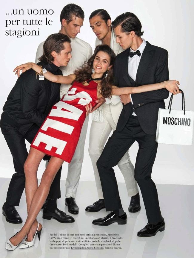 2016 Resort Moschino Women's Red Sale Stretch Envers Satin Halter Dress