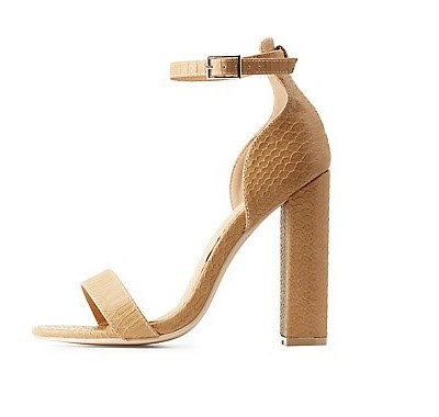 Cute and affordable shoes charlotte russe nude chunky sandals