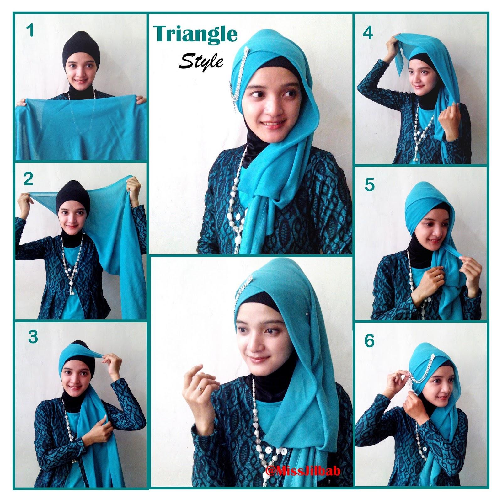 Tutorial Jilbab Segi Empat Simple Dan Cantik Gaya Modern