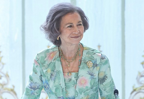 Queen Sofia of Spain and Infanta Elena attended presentation ceremony of 2018 awards of Mapfre Foundation held at The Casino de Madrid
