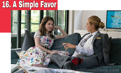 A Simple Favor 2018 movie Anna Kendrick and Blake Lively talk and drink