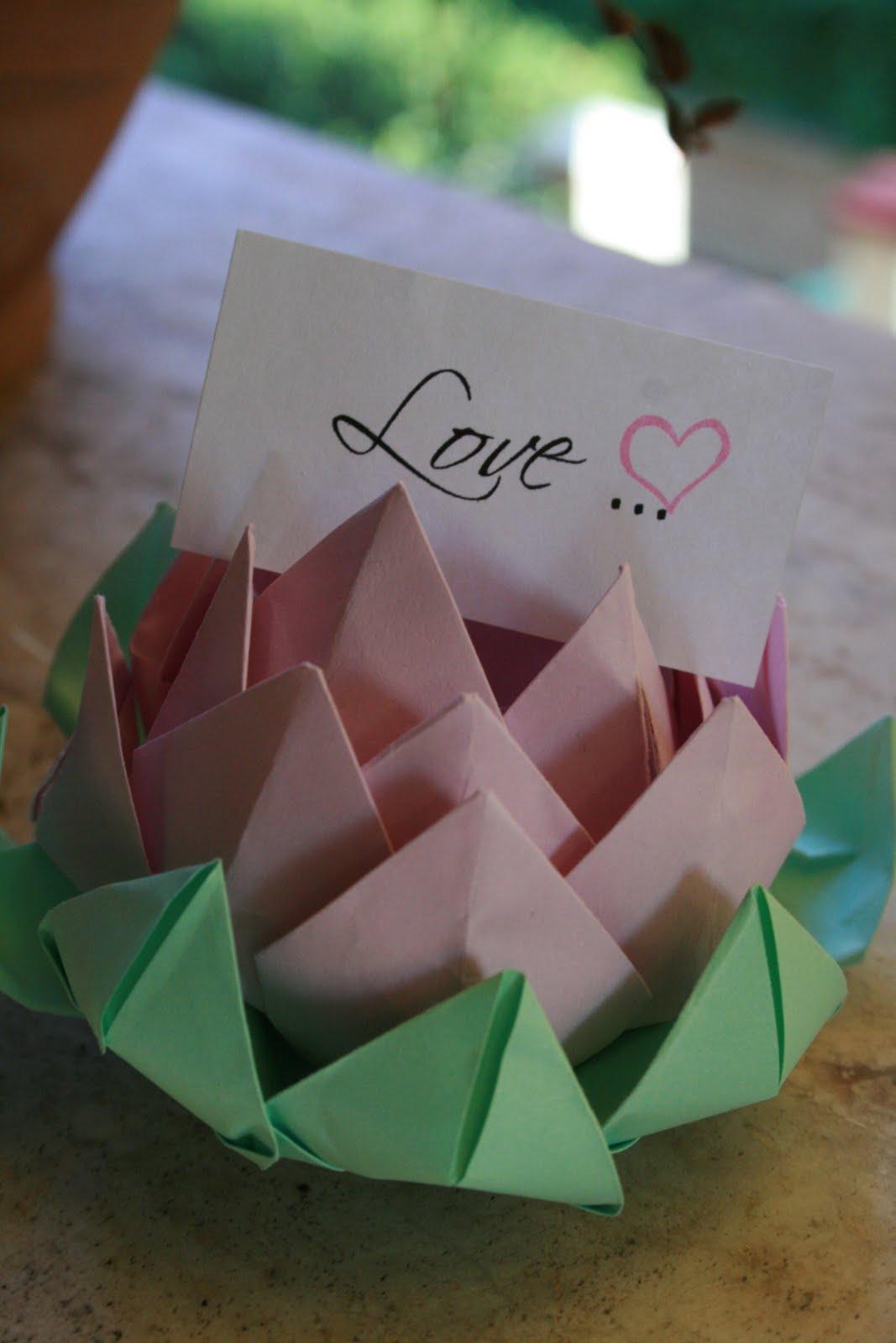 Top Pink Frilly: Origami matrimonio RY12