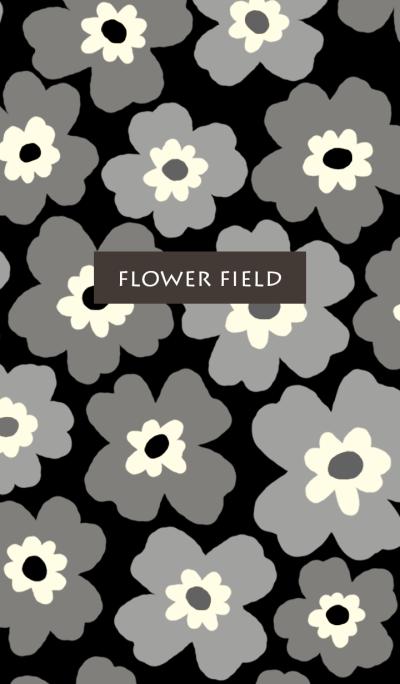 black-flower field-simple