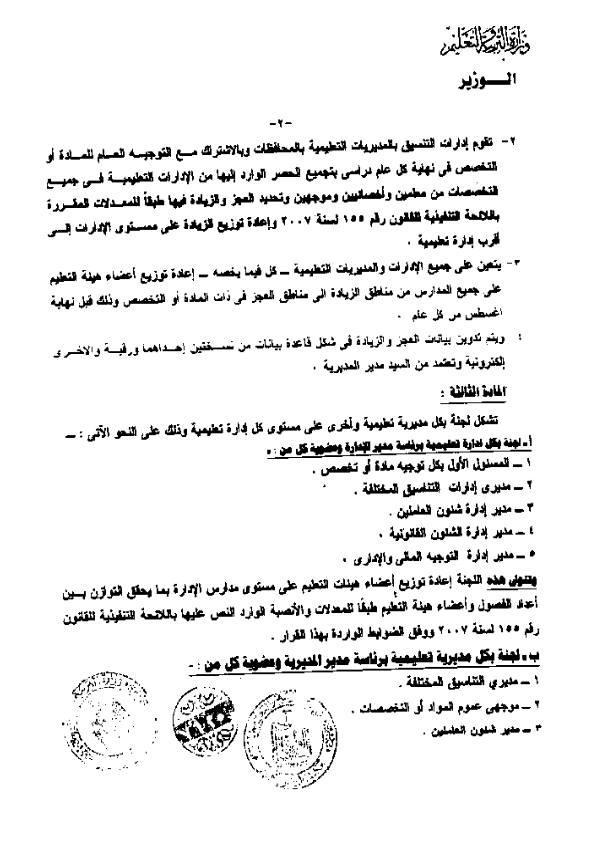 قرار 202 لسنة 2013 المادة الثالثة