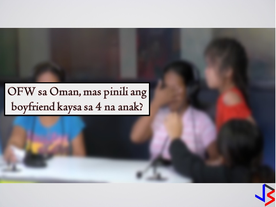 "A mother of an Overseas Filipino worker (OFW) in Oman pleads for help after her daughter stops sending remittances to her four children, instead,  her hard-earned money abroad, goes to her boyfriend.   According to Marlyn Lazo in one episode of Raffy Tulfo In Action, her OFW daughter Irene, rarely sends money to her four kids, instead gives all her earnings abroad to her boyfriend. The mother Marlyn said, she even incurred debt due to the expenses for her daughter's deployment to Oman in last year. She added the debt are still unpaid up to now and she is being pressured by her debtors to pay. According to Marlinda, Irene's sister that she only send them money once from then. On the other hand, OFW Irene explained that she stop sending remittances to her family after her boyfriend suffers bullying from them. She even gave them an ultimatum to stop but it did not happen, that is why she chooses to send his money to the guy.  ""Nung time po na magpapadala ako sa kanila, binully po ng binully yung lalaki eh wala naman pong ginagawa sa kanila. Marami po silang sinasabi sa akin kaya nasaktan ako, hindi na ako nagpadala ng pera sa kanila,""   Irene added that although she is no longer sending remittances to her children, the kids are being supported by her former husband on a weekly basis. When asked if she is willing to send monthly remittances to her family, Irene said, she cannot promise because she already has her own life now.  Eventually, Irene agreed to send her family a portion of her salary after being reminded of the reason why she decided to become an OFW in the very first place."