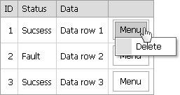 ASP  Net developer's blog: ASPxMenu in ASPxGridview with